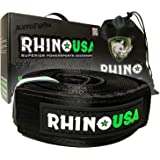 "Rhino USA Recovery Tow Strap 3"" x 20ft - Lab Tested 31,518lb Break Strength - Heavy Duty Draw String Bag Included…"