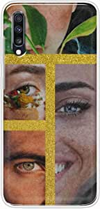 OkteqClear TPU Protection and Hybrid Rigid Clear Back Cover Compatible with Samsung Galaxy A70 - smile eyes By Okteq