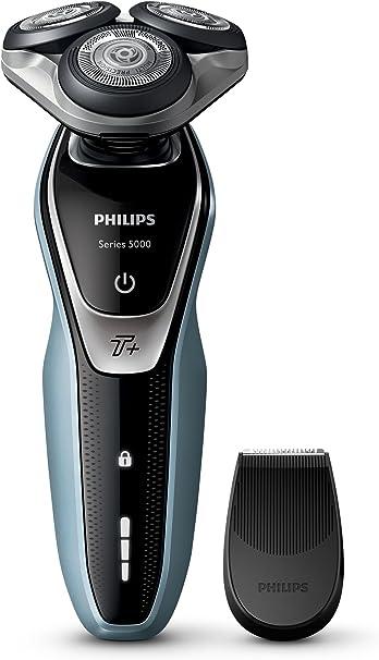 Philips SHAVER Series 5000 - Afeitadora (Rotation shaver, Negro, Plata, Batería, Ión de litio, Integrado, 50 min): Amazon.es: Informática
