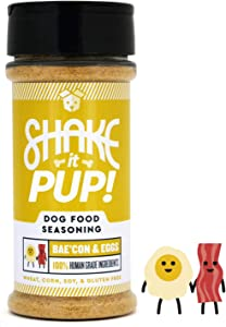 Shake it Pup! Dog Food Seasoning Topper - Natural, Human Grade Mixer, Broth, Treat, and Gravy for Dogs Kibble or Raw (4.5oz Bottles)