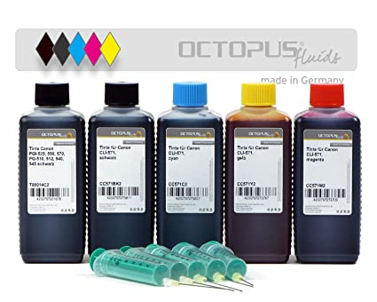 500 ml de Tinta Para Recargar, Tinta De impresora Para Canon PGI-570, CLI-571 Cartuchos Para impresora, Canon Pixma MG 5700, 5750, 5751, 5752, 5753, ...