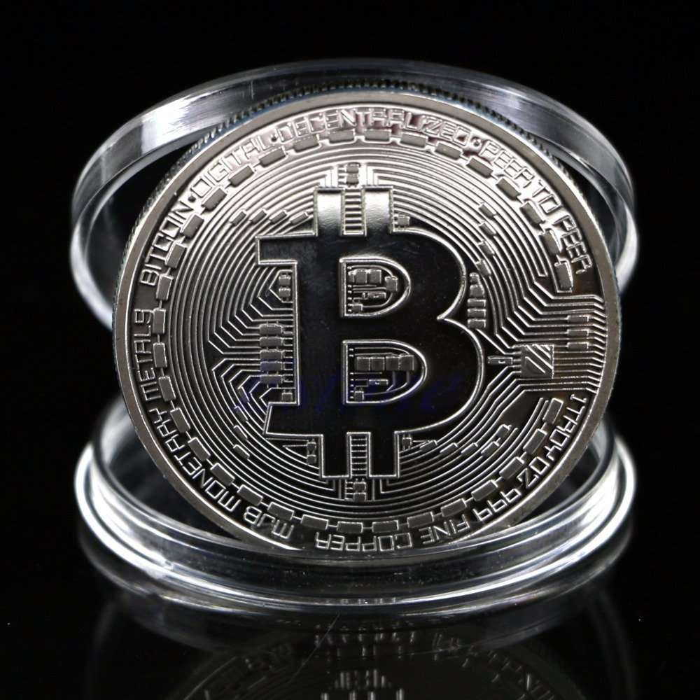 BTC Plated Bitcoin Coin Collectible Rose Gold Art Collection Physical Coin New