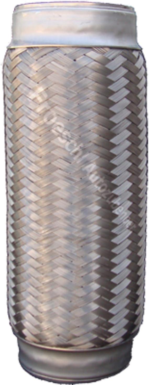 80x250mm Abgasrohr Reparaturrohr Flexibles Rohr Hosenrohr Auspuffanlage Flexrohr Auspuffrohr Flexteil Abgasanlage Reparaturteil Drahtgeflecht Verbindungsstück Auspuff Universal Flexstück Baumarkt