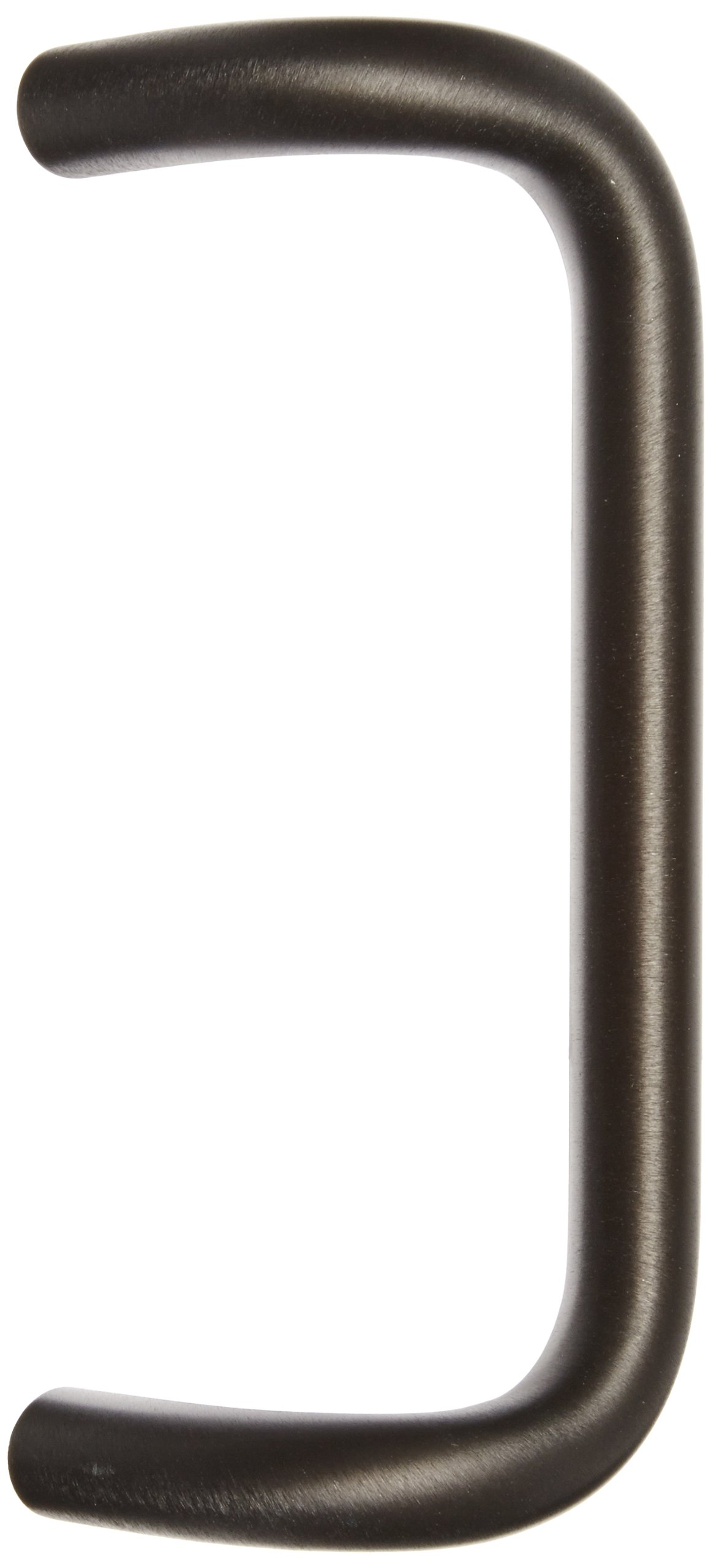 Rockwood BF157.314 Aluminum 90-Degree Offset Door Pull, 1'' Diameter x 10'' Center-to-Center, Through Bolt Mounting for 1-3/4'' Door, Extra Dark Bronze Anodized Finish