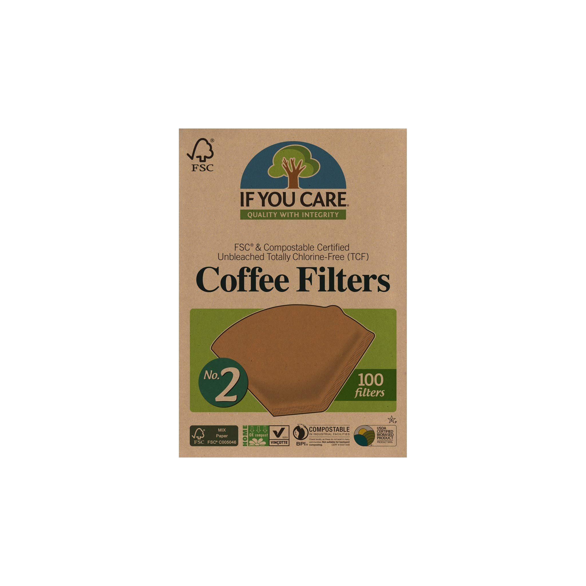 IF YOU CARE Coffee Filters, No. 2, 100-Count Boxes (Pack of 12) by If You Care