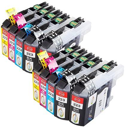 Win-Tinten 10 Tinta Compatible para Brother lc223 XL Reemplace ...