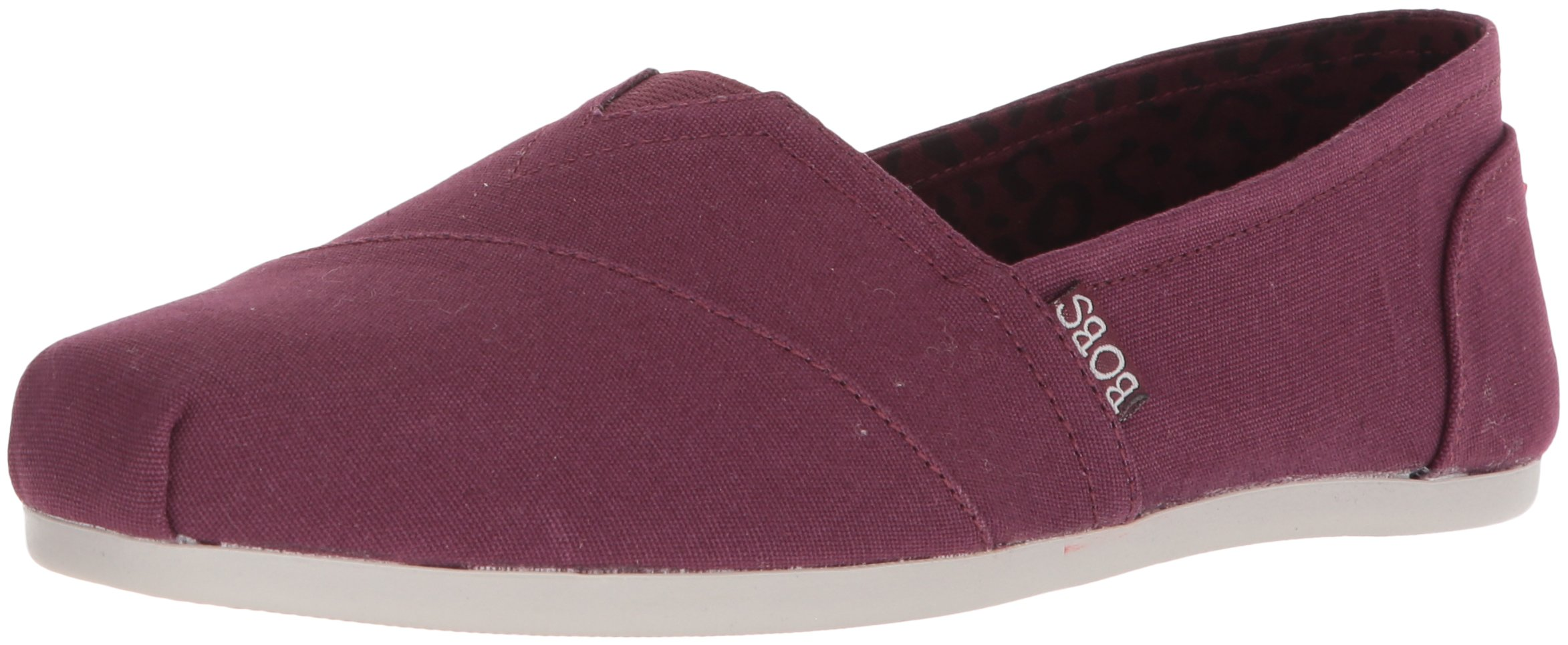 Skechers BOBS from Women's Plush-Peace and Love Ballet Flat, Burgundy, 8.5 M US by Skechers (Image #1)