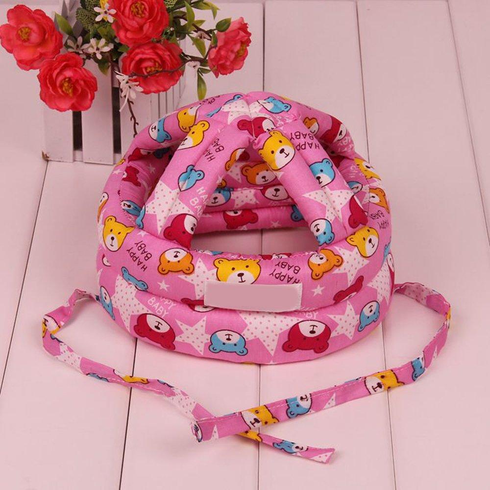 Eizur Unisex Beb/è Cappello Protezione della Testa Casco Traspirante Bambini Sicurezza Cappello Resistenza Goccia Berretto Copricapo Protettivo Taglia S//L Giallo//Blu // Rosso