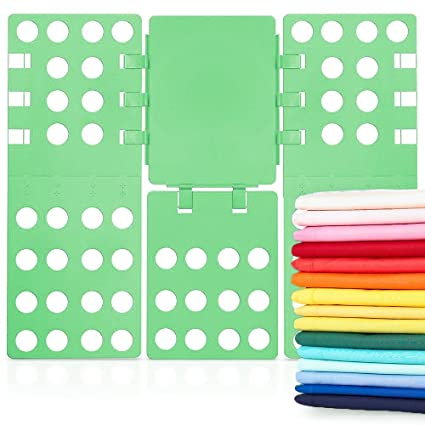 Osa Clothes Folding Board, Plastic Adjustable T-Shirt Folder Fast and Easy fold for