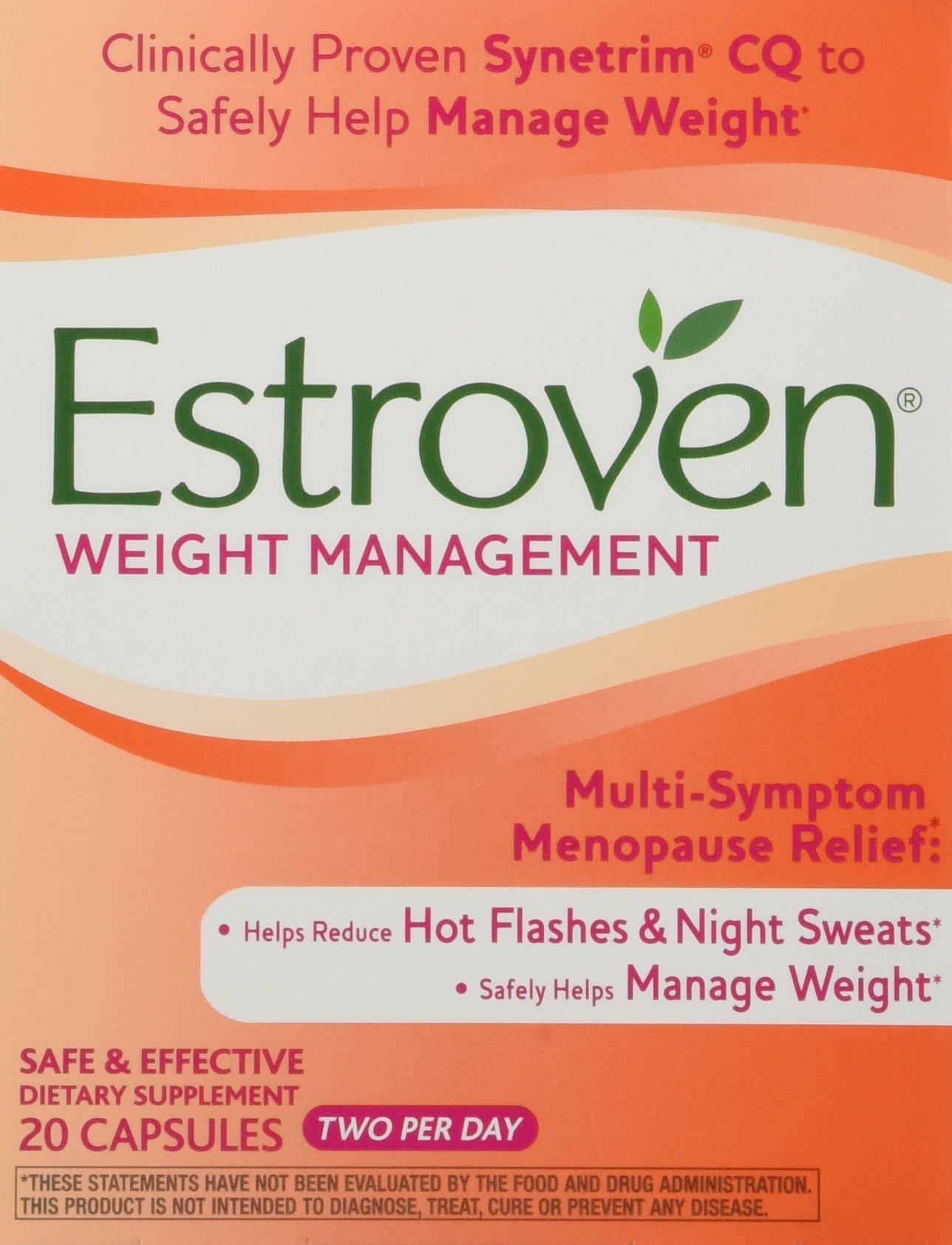 Estroven Weight Management 120 Capsues, 2 Per Day