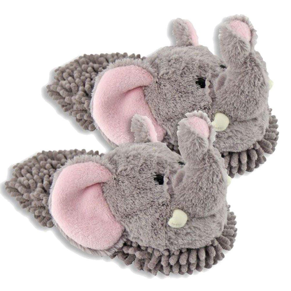 Women's Aroma Home Elephant Fuzzy Friends Slippers