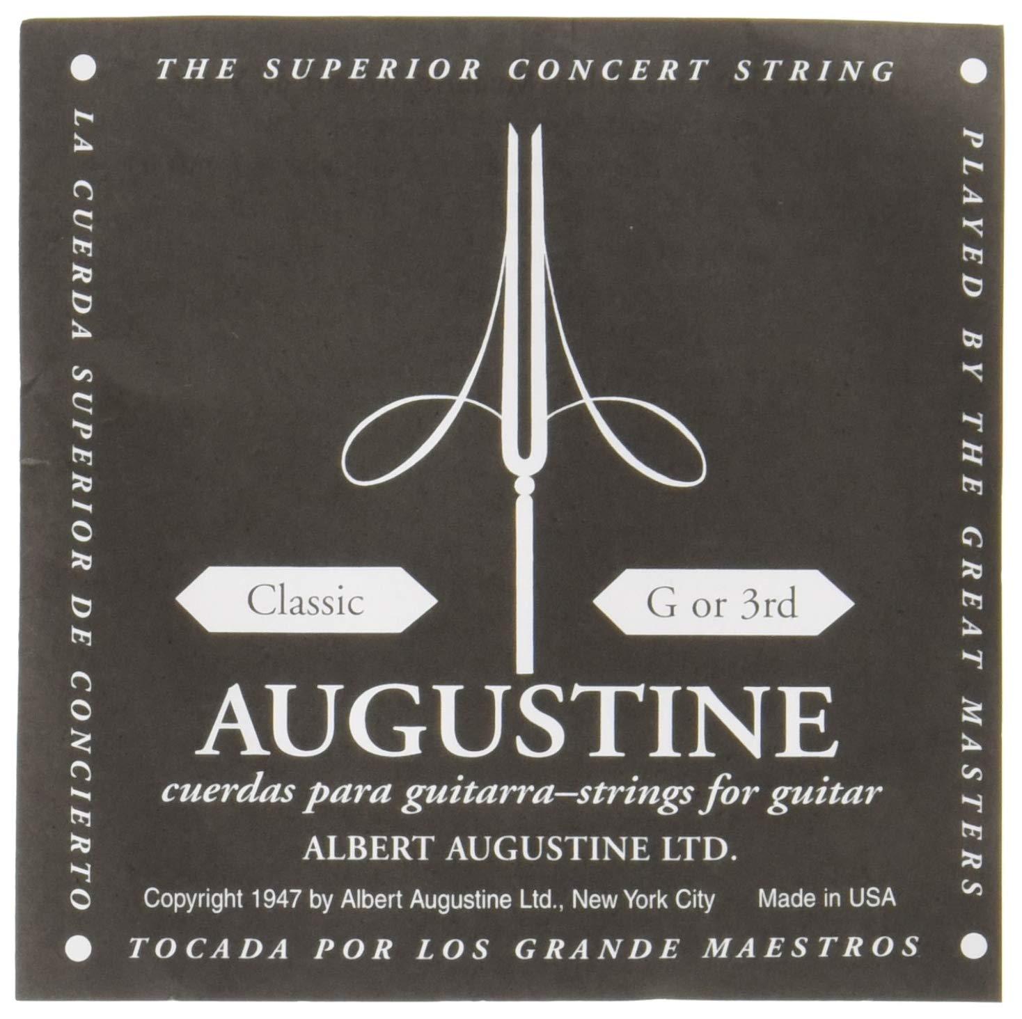Augustine Cuerdas para Guitarra Clásica, Negro, Sol3, Tensión ...