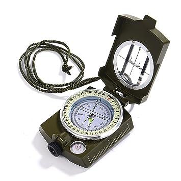 56870451c2 GWHOLE 方位磁石 コンパス 方位磁針 高精度 オイル式 ミリタリーコンパス 折り畳み式 アウトドア 登山