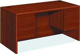 product image for HON 10771CO 10700 Series Desk, 3/4 Height Double Pedestals, 60w x 30d x 29 1/2h, Cognac