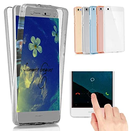 Ysimee Funda Huawei P10 Lite, Transparente Silicona 360 ...