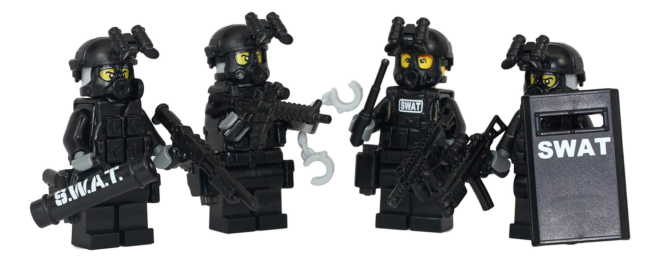 Swat Team Police Squad - Modern Brick Warfare Custom Minifigure