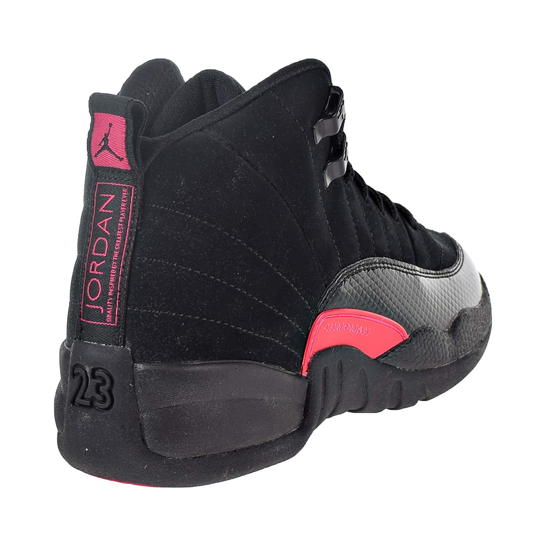 a7b08cfba67 Amazon.com | Nike Air Jordan 12 Retro Big Kids'/Men's Shoes Black/Dark Grey/Rush  Pink 510815-006 | Running