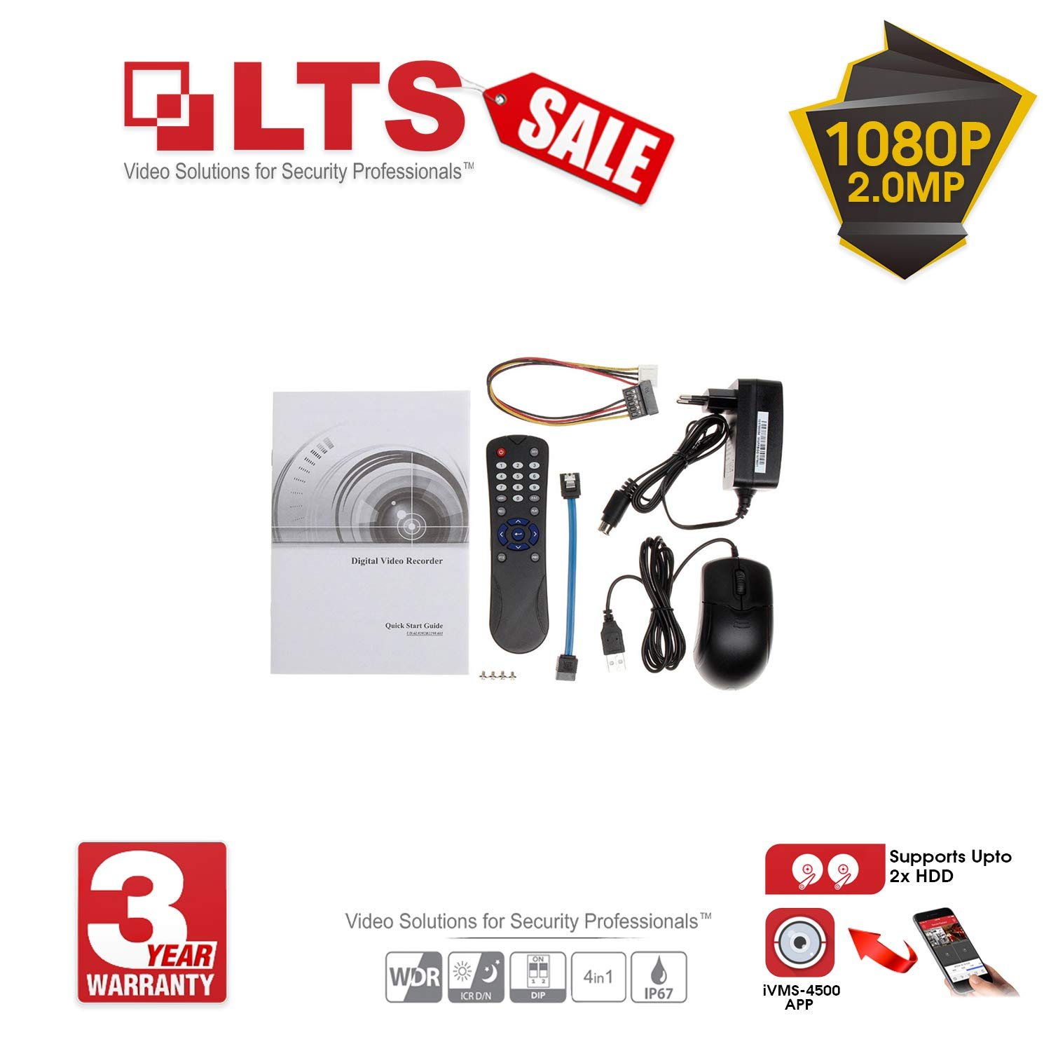LTS 8CH 3 0MP CCTV System and 4x 2 0MP Outdoor Camera with