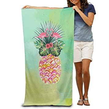 Toallas de baño de piña de verano, flamencos, toallas de playa, toallas de piscina, para adultos, suave absorbente, 78,74 x 121,92 cm: Amazon.es: Hogar