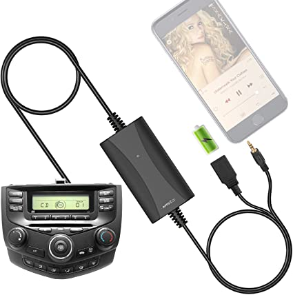 Hands-Free Calling /& Wireless Music Receiver Acura CSX MDX RDX TSX Wiiki-Tech with USB Charger Mp3 Interface for Honda Accord Civic CRV Element Odyssey Pilot Fit S2000 AUX Adapter