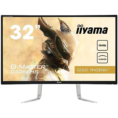 iiyama G Master G3266HS B1 Pantalla para PC 80 cm 31 5 Full HD LED Curva Mate Negro Monitor 80 cm 31 5 1920 x 1080 Pixeles Full HD LED 3 ms Negro