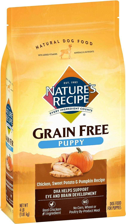 Nature's Recipe Grain Free Puppy Dry Dog Food, Chicken, Sweet Potato & Pumpkin