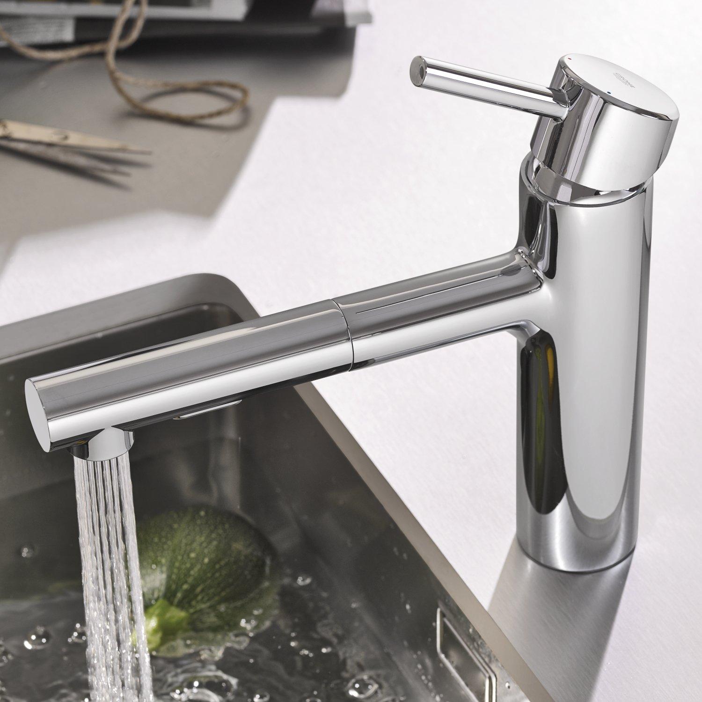 Grohe Concetto - Grifo de cocina Pullsout dualspout Alta presión Ref. 30273001: Amazon.es: Bricolaje y herramientas