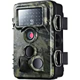 VicTsing Caméra de Chasse Surveillance Imperméable IP66 étanche 12MP 1080P HD, Caméra de Jeu Nocturne Infrarouge