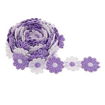 Blumenmuster Stoffband Geschenkband Dekoband Schleifenband für DIY Handwerk