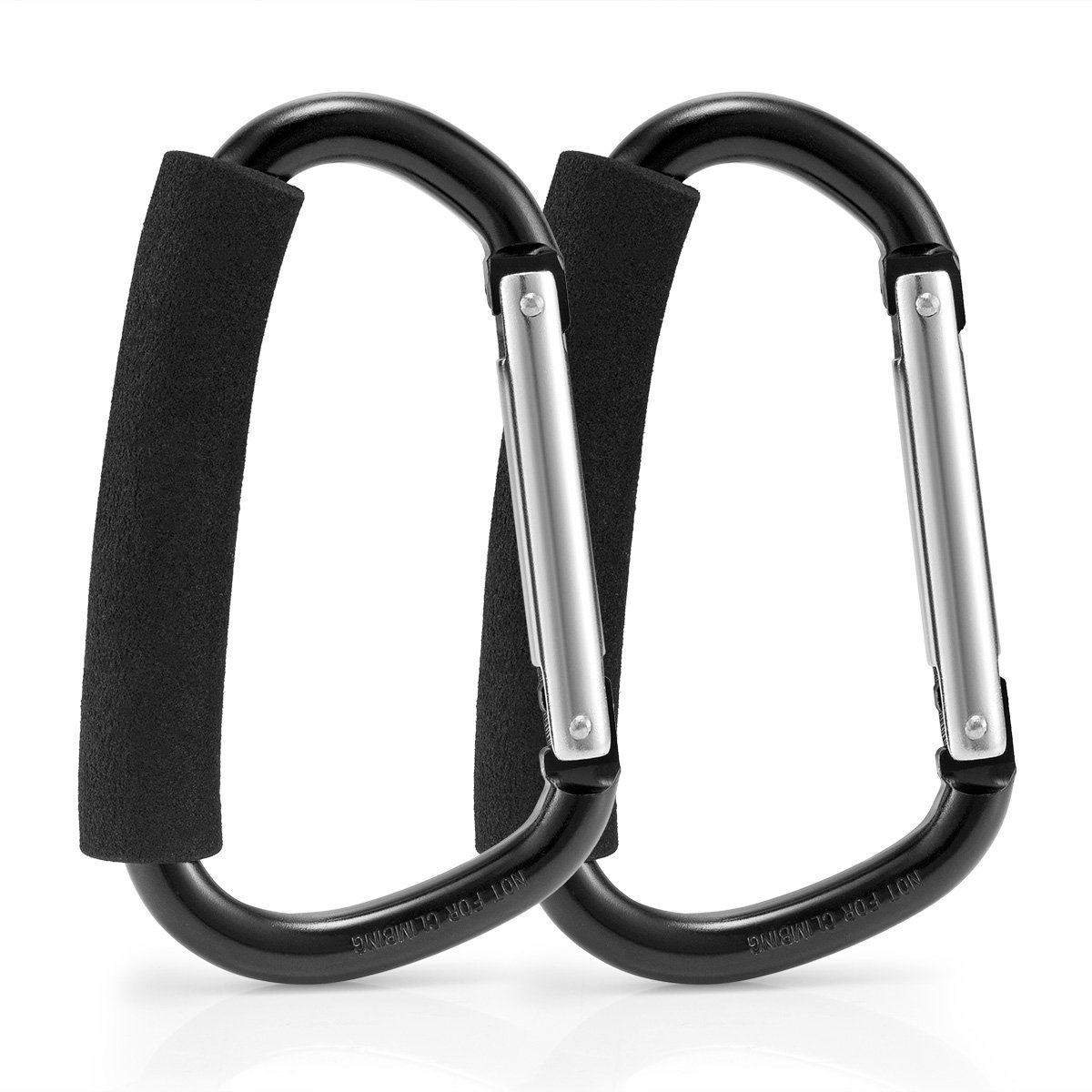 Avinee Handy Stroller Hook,Clips On Any Baby Stroller Or Infant Car Seat,Prefect for Diaper Bags, Toys, Bags, Stroller Accessories, Baby Changing Pad -Pack of 2 by Avinee (Image #2)