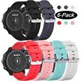 RuenTech Compatible with Fossil Q Explorist Gen 4 Band 22mm Silicone Sport Straps Soft Wristbands Compatible for Fossil Gen 5 Juliana/Carlyle HR Smartwatch