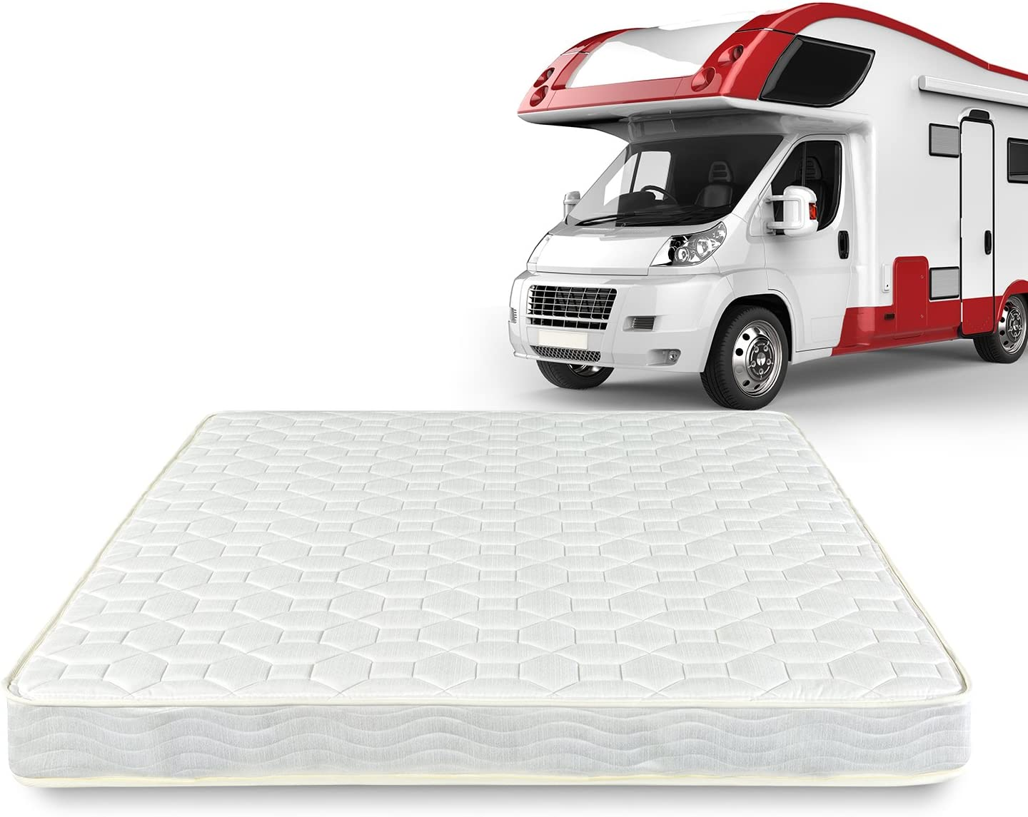 Zinus 6 Inch Spring RV/Camper/Trailer/Truck Mattress, Short Queen