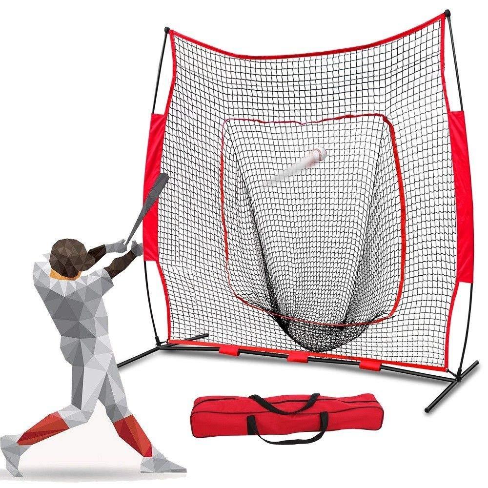 Granta Store Baseball Softball Practice Hitting Batting Training Net 7x7 Ft Bow Frame W/Bag by Granta Store