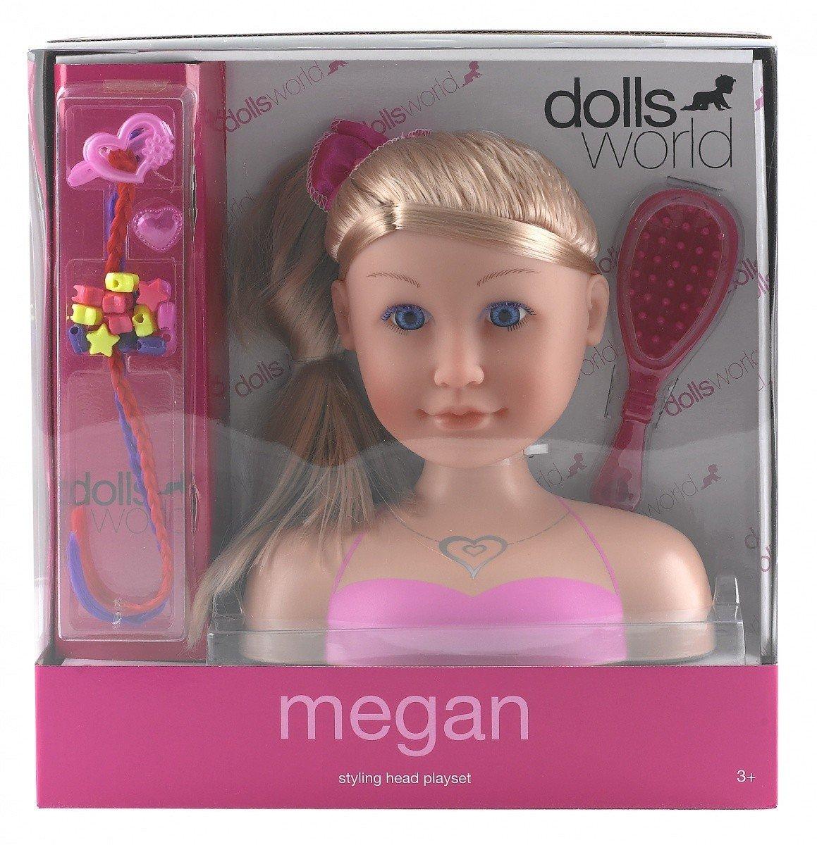 Dolls World - Maniquí para peinar y maquillar (Peterkin UK 8730)