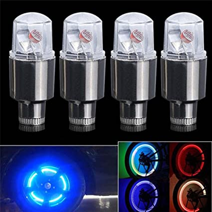 LED Lamp Flash Tyre Wheel Valve Cap Light For Car Bicycle Bike Motorbicycle