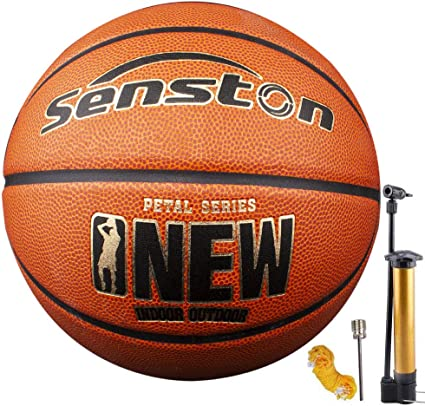 Senston Basketball 29.5 Outdoor Indoor Mens Basketball Ball Official Size 7 Composite Basketballs