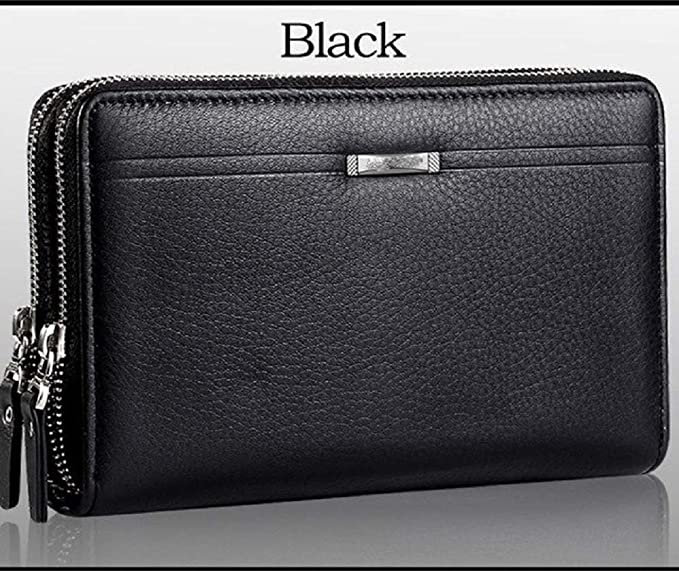 513640424eb3 Image Unavailable. Image not available for. Color: 1 PC Men Wallets with  Coin Pocket Long Zipper Coin Purse for Men Clutch Business Male