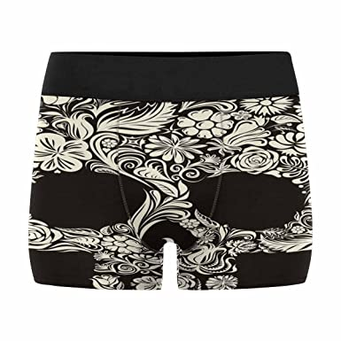 INTERESTPRINT Custom Mens All-Over Print Boxer Briefs Trendy Floral Pattern XS-3XL