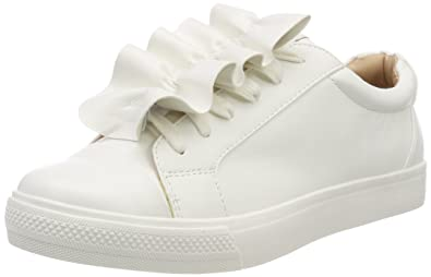1bf4bf1887 Only Onlskye Frill Sneaker, Sneakers Basses Femme, Blanc White, 40 EU