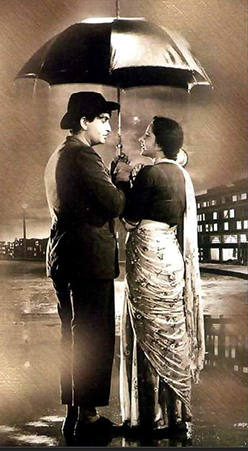 Bollywood Vintage Raj kapoor Nargis Aawara - Poster for Home Office and Gift