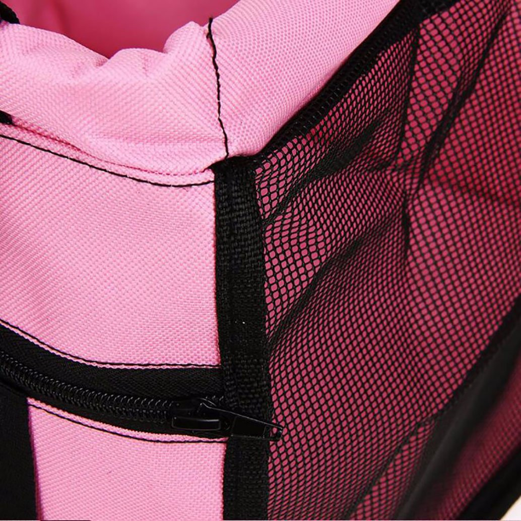 Pink Pet Car Booster Seat For Dogs Cats Portable Pet Car Seat Cover Carrier For Travel