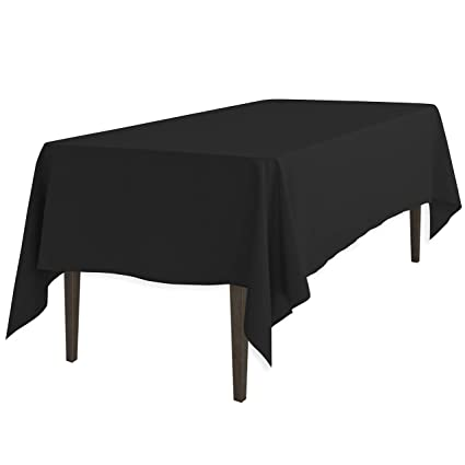 Amazon Com Linentablecloth  Inch Rectangular Polyester Tablecloth Black Home Kitchen