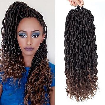 Amazon Com Befunny 6packs 14inch Ombre Goddess Locs Crochet Hair