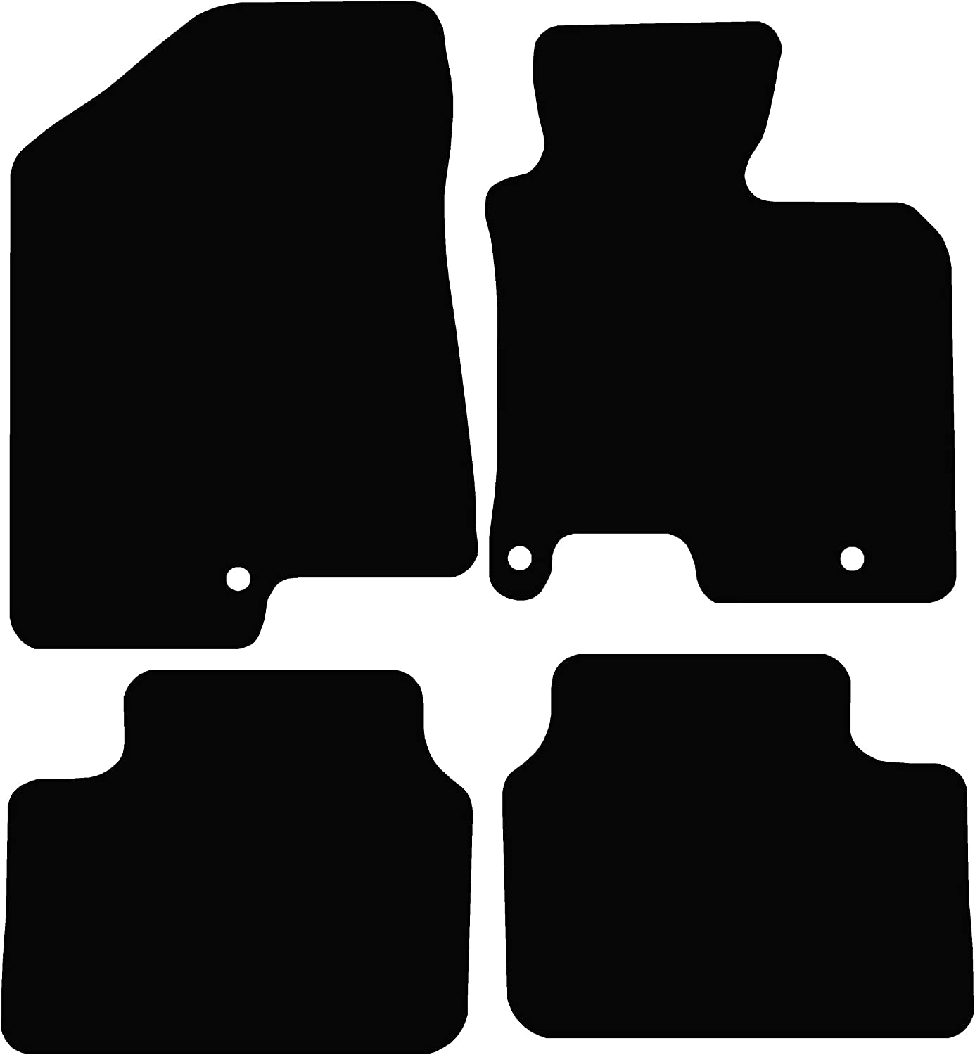 Black Connected Essentials 5023710 Tailored Custom Fit Rubber Car Mats Kia Ceed 2012-