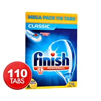Finish Powerball Dishwashing Tabs Classic Lemon Sparkle 110pk