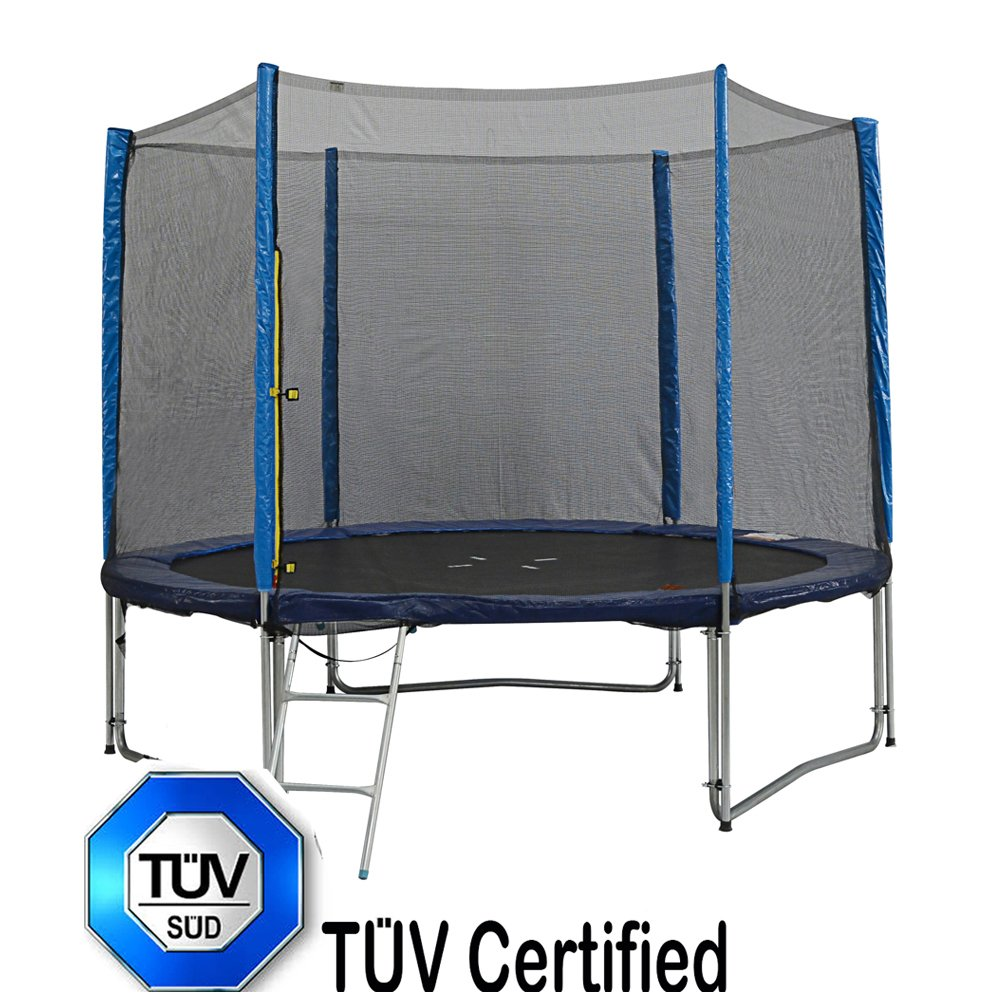 zupapa 8 ft tüv approved trampoline max support 100kg with ladder