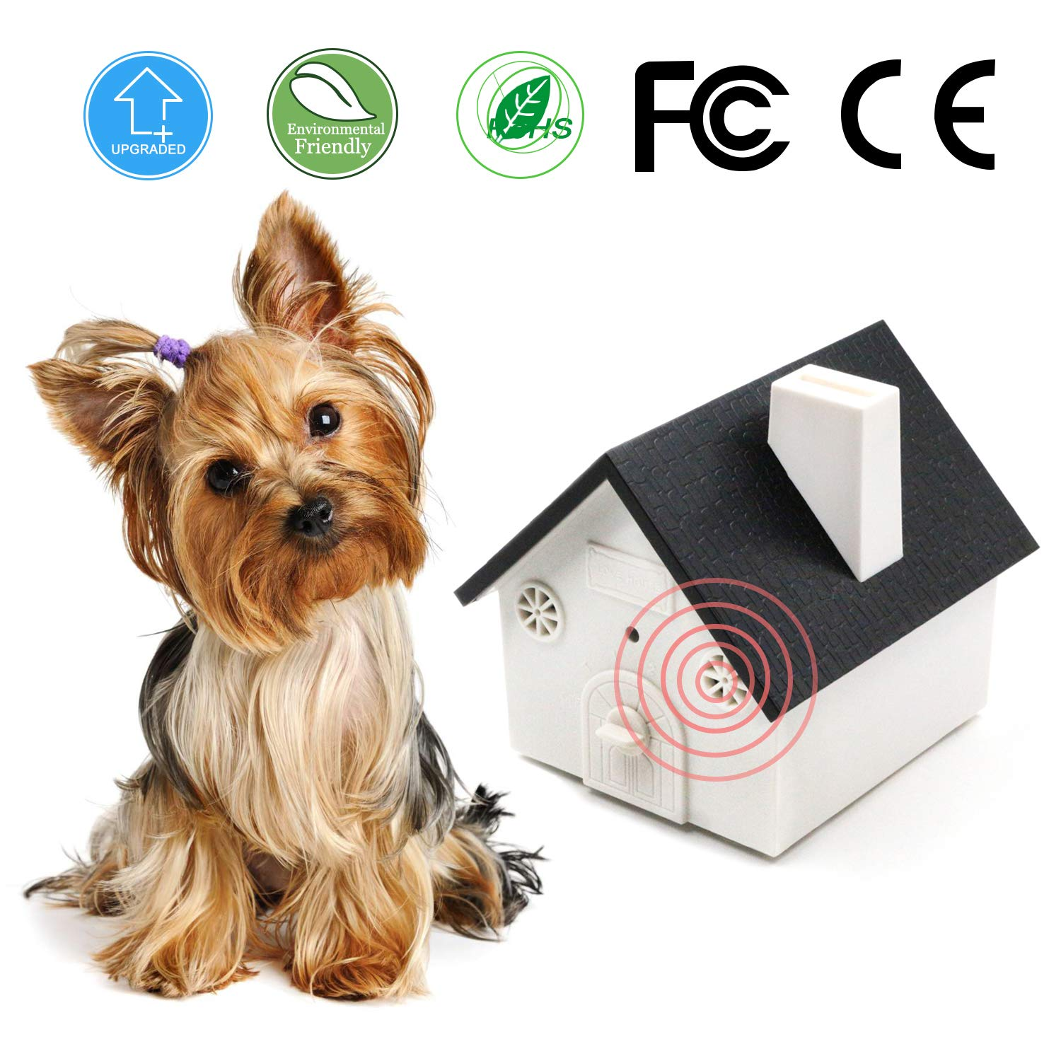 Verfanny Anti Bark Control Device, 2018 New Ultrasonic Dog Bark Control Deterrents,Stop Barking Repellent,Training Tool,Indoor&Outdoor Use, Suitable for Small/Medium/Large Dogs, Safe for Pets&Human