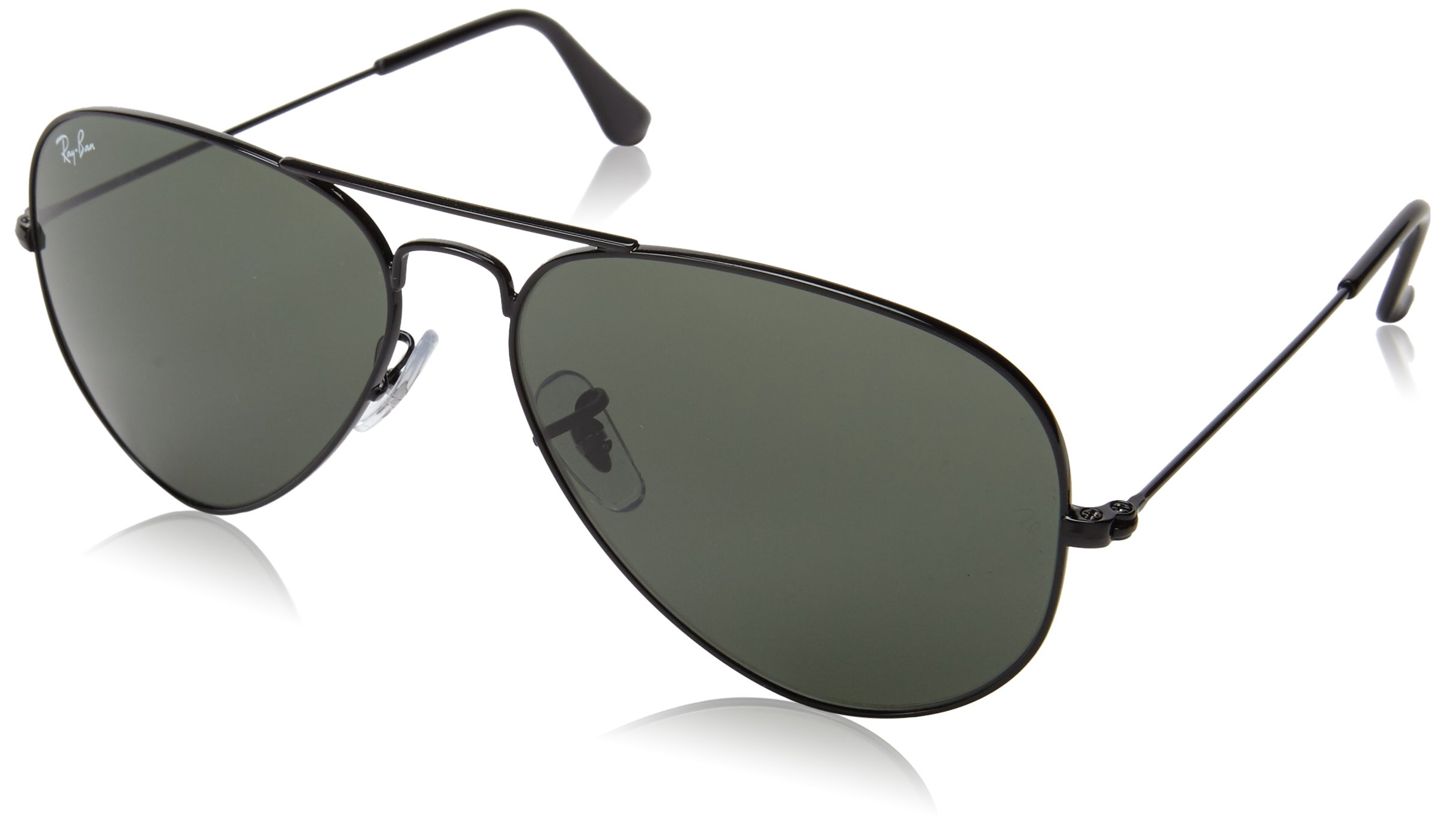 Ray-Ban RB3025 Aviator Sunglasses, Black/Grey, 58 mm by Ray-Ban