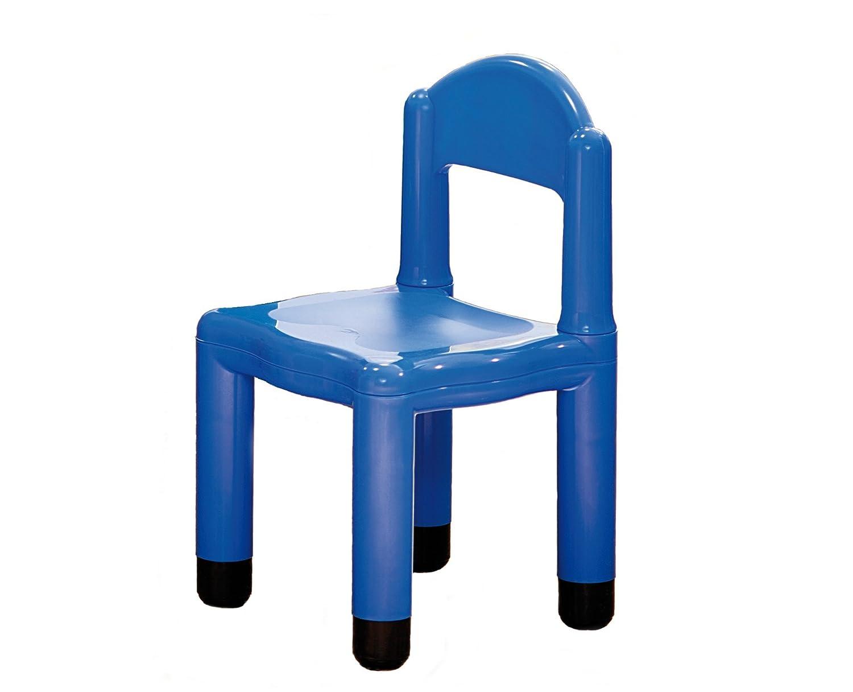 Italveneta Didattica 90014 Seggiolina in Plastica Blu con Tappo per Gambe da 5 cm