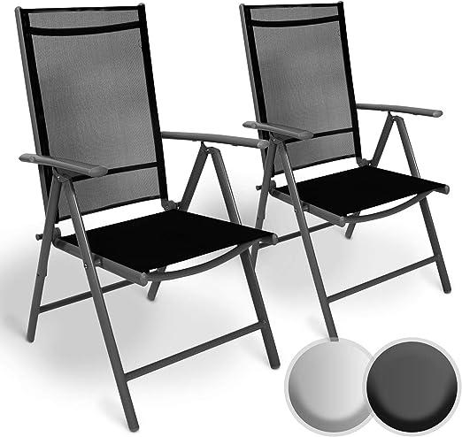 Sedie Da Esterno Con Braccioli.Miadomodo Set Di Alluminio Sedie Da Giardino Pieghevole Con